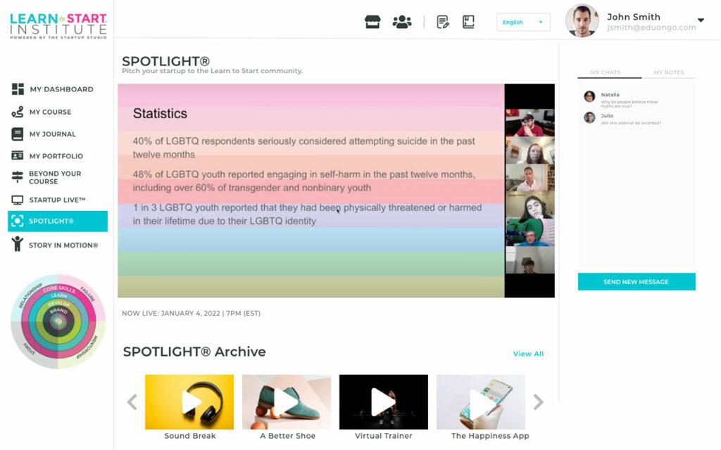 Spotlight pitch 3
